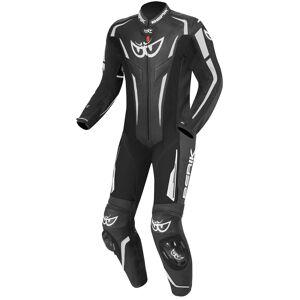 Berik RSF-Teck Yksiosainen moottoripyörän nahkapuku  - Musta Valkoinen - Size: 58