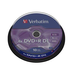 Verbatim DVD+R DL, 8x, 8,5 GB/240 min, 10-pakkaus spindle, AZO