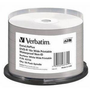 Verbatim 1x50 DVD-R 4,7GB 16x Wide glossy waterproof print