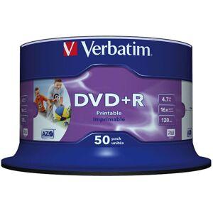 Verbatim DVD+R, 16x, 4,7 GB/120 min, 50-pakkaus spindle, AZO