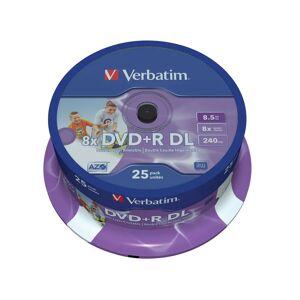 Verbatim DVD+R DL, 8x, 8,5 GB/240 min, 25-pakkaus spindle, AZO