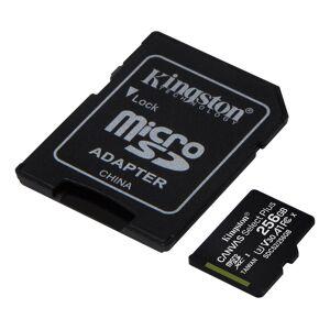 Kingston 256GB micSDXC 100R A1 C10 Card+ADP