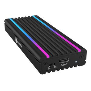ICY BOX USB Type-C™ enclosure for M.2 NVMe SSD - RGB illuminated