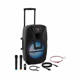 Uniprodo Kuljetettava PA-kaiutin - 2 mikrofonia - kaukosäädin - 50 W