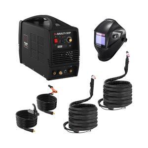 Stamos Pro Series Hitsaussetti Yhdistelmähitsauskone - TIG 180 A - Cut 50 A - MMA- PRO + Hitsausmaski – Carbonic – PROFESSIONAL SERIES