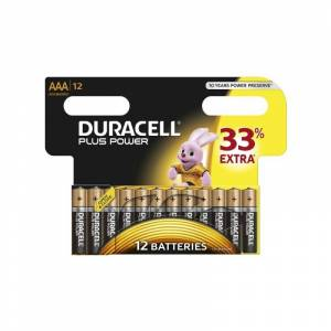 Duracell AAA Plus Power 12 kpl Patterit