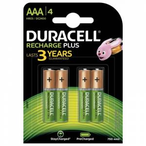 Duracell AAA Recharge Plus 4 kpl Patterit