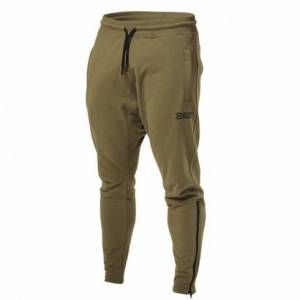 Better Bodies Harlem Zip Pants Military Green, Xxl