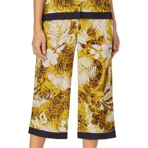 DKNY Rooftop Ready Wide Capri Pant - Yellow Pattern  - Size: 2722408 - Color: kelt. Kuvionti