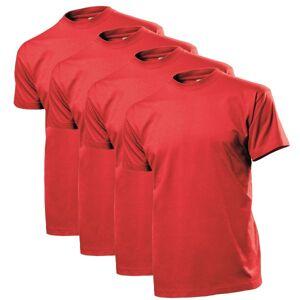 Stedman 4 pakkaus Comfort Men T-shirt - Red * Kampanja *  - Size: ST2100 - Color: punainen