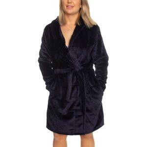 Decoy Women Stripe Robe - Midnightblue