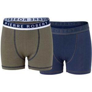Pierre Robert 2 pakkaus Cotton Boxer For Boys - Khaki
