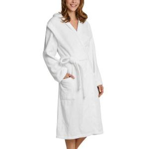 Schiesser Essentials Bathrobe With Hood - White  - Size: 128545 - Color: valkoinen