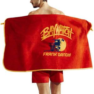 Frank Dandy Baywatch Beach Towel - Red  - Size: 12637 - Color: punainen