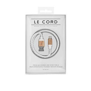 Le Cord White Leather/Light Wood Puhelintarvikkeet White