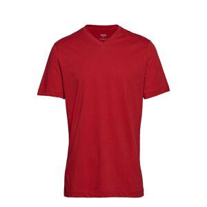 Mango Man V-Neck Cotton T-Shirt T-shirts Short-sleeved Punainen Mango Man