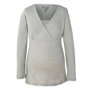 Frugi Grey PJ Top Pregnancy sleepwear