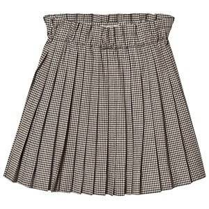 Bonpoint Check Pleated Skirt Black/White 10 years