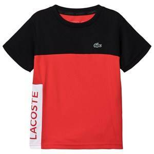 Lacoste Colourblock Dry Pique Tennis T-shirt Red/Black 16 years