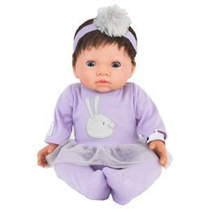 Tiny Treasure Doll Brown Hair Doll with Purple Outfit