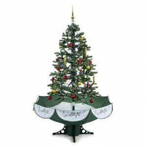 OneConcept Everwhite joulukuusi lumisadesimulaatio 180 cm LED musiikki vihreä
