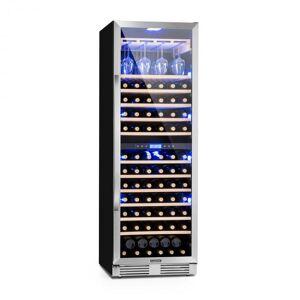 Klarstein Vinovilla Grande Duo suuri viinijääkaappi 425l 165 pulloa 3 väriä lasi