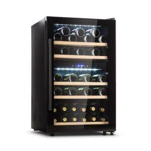 Klarstein Barossa 40D viinijääkaappi 2 aluetta 135 l 41 pullolle lasiovi touch