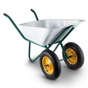 Waldbeck Heavyload kottikärryt 120l 320kg puutarhkärrt 2-pyöräiset teräs vihreä
