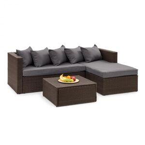 Blumfeldt Theia Lounge Set pihahuonekalu ruskea/tummanharmaa