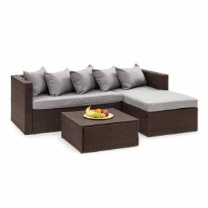 Blumfeldt Theia Lounge Set pihahuonekalu ruskea/vaaleanharmaa