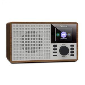 "Auna DR-160 bluetooth DAB+/FM-radio USB AUX 2.4"" TFT-näyttö kaukosäädin puunvärinen"