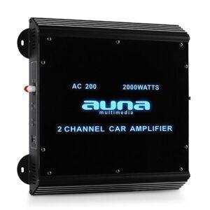 Auna 2-kanavainen auto-pääteaste Auna autovahvistin 2000W akryyli