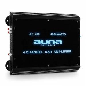 Auna W2-Ac400 4-kanavainen autovahvistin 400 W