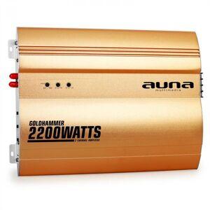 Auna Goldhammer 2-kanavainen autovahvistin 2200 W