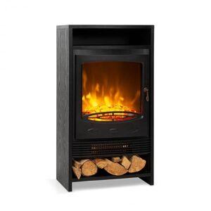 Klarstein Bergamo sähkötakka 900/1800 W termostaatti puujäljitelmä musta