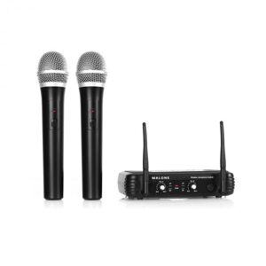Malone UHF-250 Duo1 2-kanavainen langaton UHF-mikrofonisetti