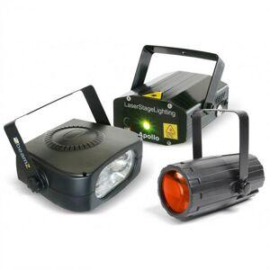 Beamz Light Package 4 diskotehostesetti valotehostekone laser strobovalo