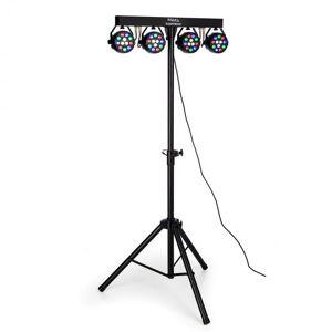 Ibiza DJLIGHT80LED teline 4 x 1 W RGBW-LED PAR-valonheitin