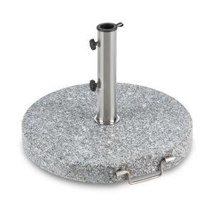 Blumfeldt Schirmherr 30SQ aurinkovarjon jalka parvekkeelle 30 kg, harmaata graniittia, pyöreä