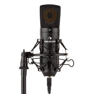 Auna MIC-920B USB kondensaattorimikrofoni studio USB suurikalvoinen mikrofoni musta
