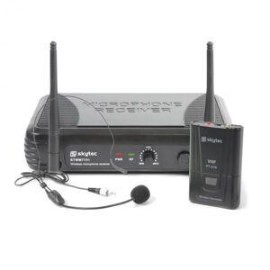 Skytec STWM11H mikrofoni headset VHF-tekniikka lähetin, vastaanotin ja headset musta