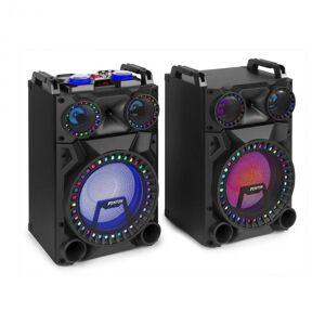 "Fenton VS12 aktiivikaiutinsetti 1200 W 12"" subwoofer bluetooth USB-portti SD-paikka LED"