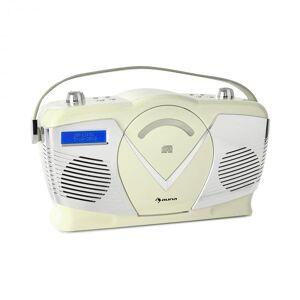 Auna RCD-70 DAB retro CD-radio FM DAB+ CD-soitin USB bluetooth kermanvärinen