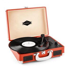 Auna Peggy Sue retrolevysoitin vinyyli LP USB linjaulostulo oranssi