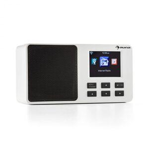 """Auna IR-110 internetradio 3,2"""" TFT-värinäyttö akku WLAN USB valkoinen"""