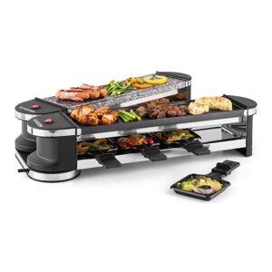 Klarstein Tenderloin 50/50 raclette-grilli 1200W 8 hengelle luonnonkivi