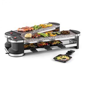 Klarstein Tenderloin 100 raclette-grilli 1200W 8 henkilölle 2x luonnonkivilevy