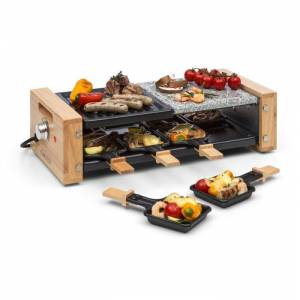 Klarstein Chateaubriand Nuovo raclette-grilli 1200W alumiini/ kivi 8 hengelle