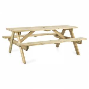 Blumfeldt Picknicker 180 piknik-pöytä penkki puutarhakalusto 32 mm FSC-mäntyä
