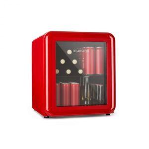Klarstein PopLife juomajäähdytin jääkaappi 0-10°C retromuotoilu punainen